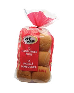 Best Value Hamburger Buns 12ct
