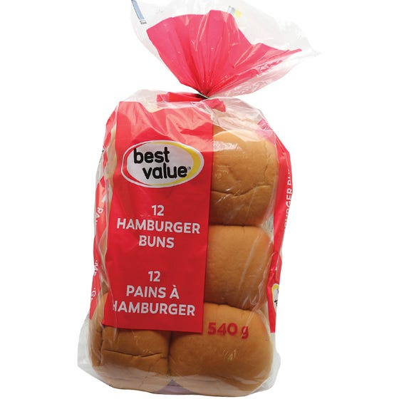 Best Value Hamburger Buns 12ct
