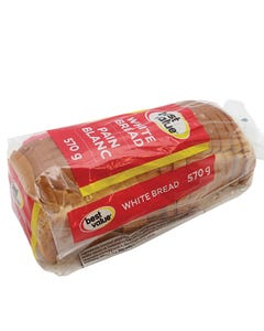 Best Value White Bread 570g