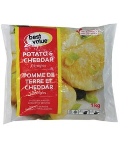 Best Value Potato & Cheddar Perogies 1kg