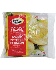 Best Value Potato & Bacon Perogies 1kg