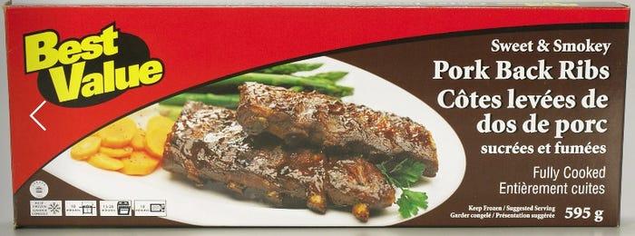 Best Value Pork Back Ribs Sweet & Smokey 595g