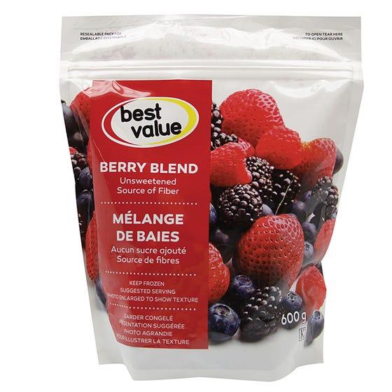 Best Value Frozen Fruit Berry Blend 600g
