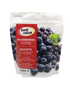 Best Value Frozen Blueberries 600g