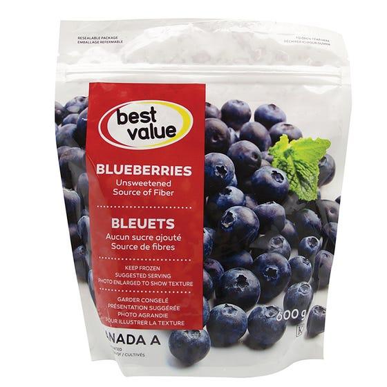 Best Value Fruits Congelés Bleuets 600G