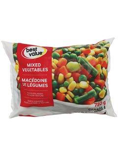 Best Value Frozen Vegetables Mixed 750g