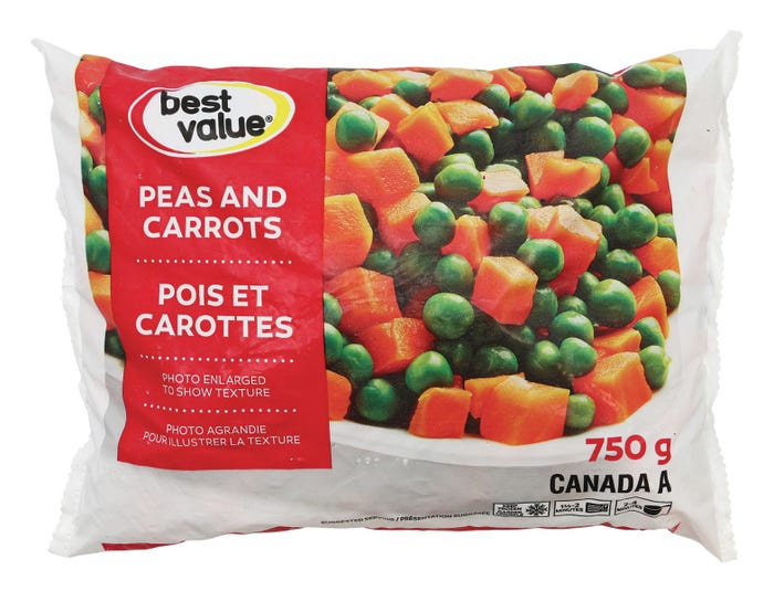 Best Value Vegetables Peas Carrots 750G