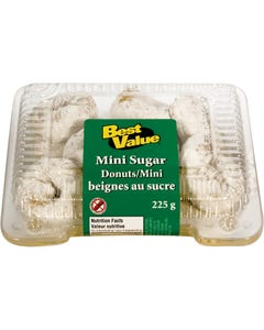 Best Value Mini Sugar Donuts 225G