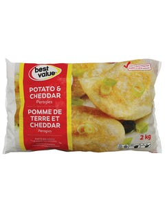 Best Value Potato & Cheddar Perogies 2kg