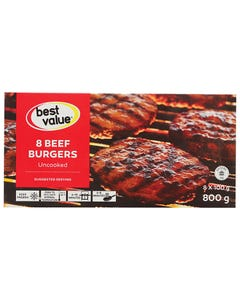 Best Value Burgers De Boeuf 800G