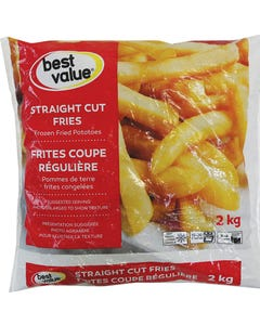 Best Value Fries Straight Cut 2kg