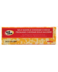 Best Value Fromage Cheddar Doux Marbré 600G
