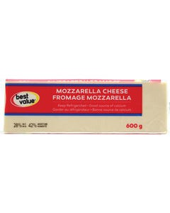 Best Value Mozzarella Cheese 600g