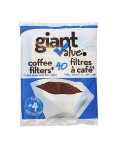 Giant Value Coffee Filters Cones #4 40CT