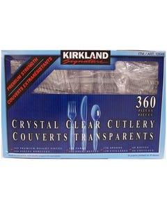 Kirkland Crystal Clear Cutlery Assorted 360CT