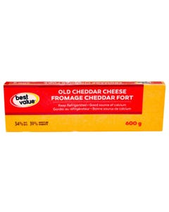 Best Value Cheese Cheddar Old 600g