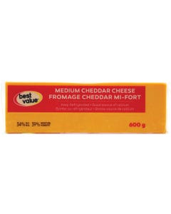 Best Value Cheddar Cheese Medium 600g