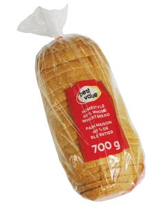 Best Value Homestyle Bread 60% Whole Wheat 700g