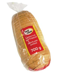 Best Value Homestyle Bread White 700g