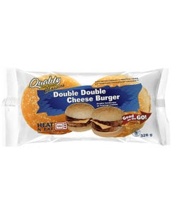 Quality Fast Foods Double Double Cheeseburger 326g