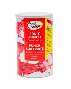 Best Value Drink Crystals Fruit Punch Reduced Sugar 1kg