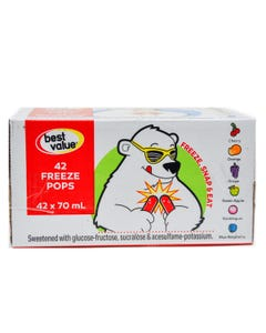 Best Value Freeze Pops Box 42x70ML