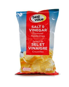 Best Value Potato Chips Salt & Vinegar 255g