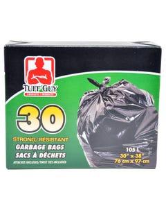 Tuff Guy Garbage Bags 105L 30CT