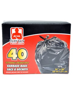 Tuff Guy Garbage Bags Outdoor 40ct 77l