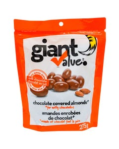 Giant Value Chocolate Covered Almonds 275g