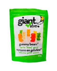Giant Value Gummy Bears Bag 125g
