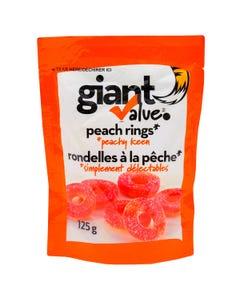 Giant Value Peach Rings Bag 125g