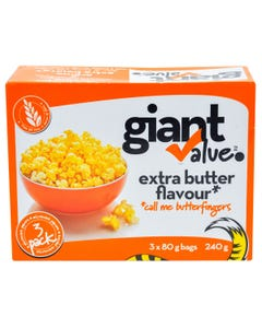 Giant Value Popcorn Extra Butter 240g