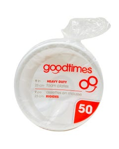Good Times Assiettes De Mousse 50CT