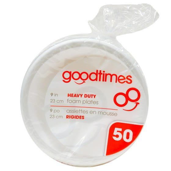 Good Times Assiettes De Mousse 50CT