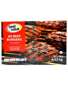 Best Value Burgers De Boeuf 4.52KG