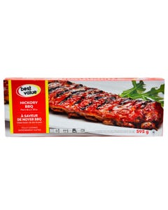 Best Value Pork Back Ribs Hickory BBQ 595g