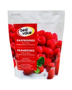 Best Value Fruits Congelés Framboises 400G
