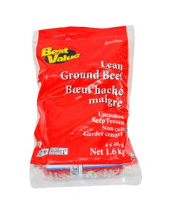 Best Value Lean Ground Beef 4X400G