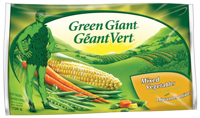 Green Giant Mixed Vegetables 750G