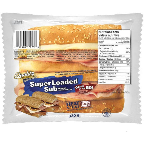 Quality Fast Foods Super Loaded Sub 330g