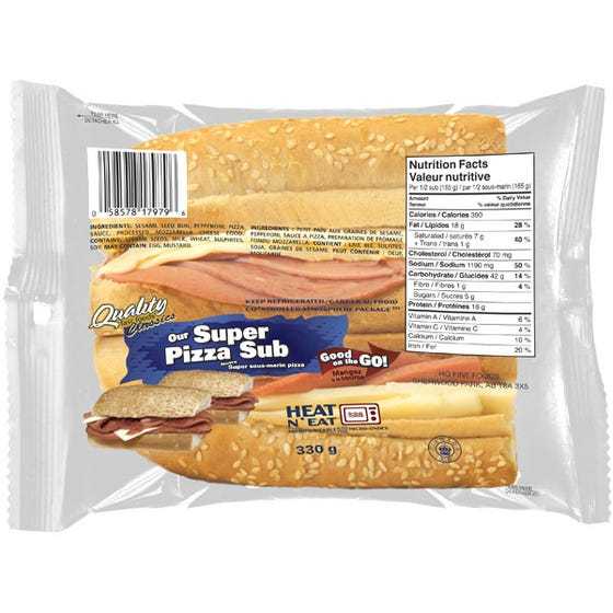 Quality Fast Foods Super Pizza Sub 330g